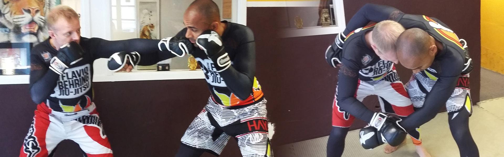 Brian Berggren og Michael Nielsen træner FLOW som er et ny moderne MMA stil, hvor der også trænes gulvkamp
