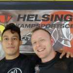 Brown Belt Brian Berggren andBlack Belt Carlos Saquic Perez at Helsingør Kampsportscenter