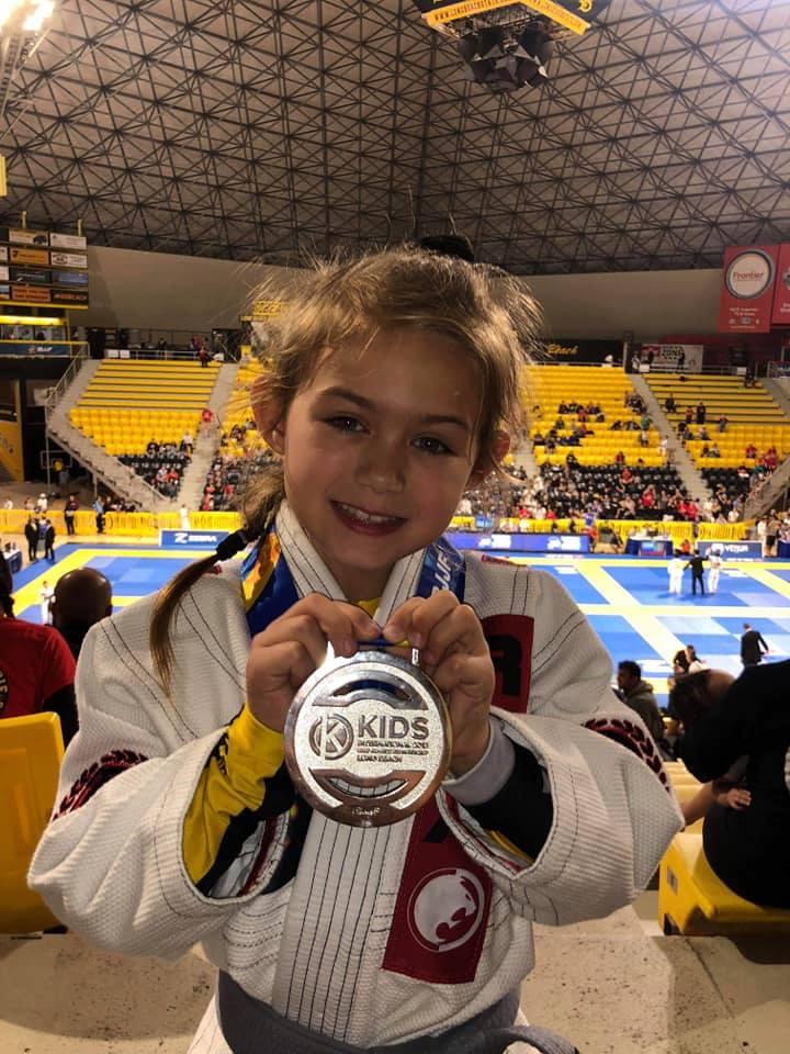 Evolet Elise Boris vinder sølvmedalje i Brasiliansk Jiu-Jitsu 2018