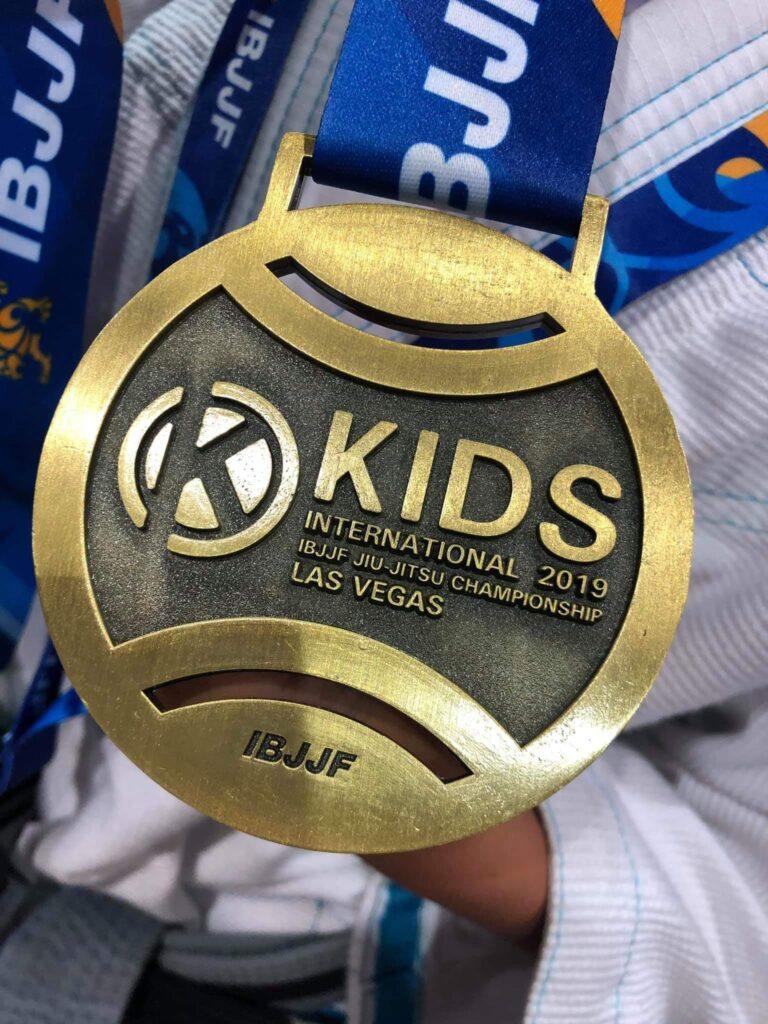 Evolet Elise Boris bronze medalje fra IBJJF Kids 2019 Las Vegas